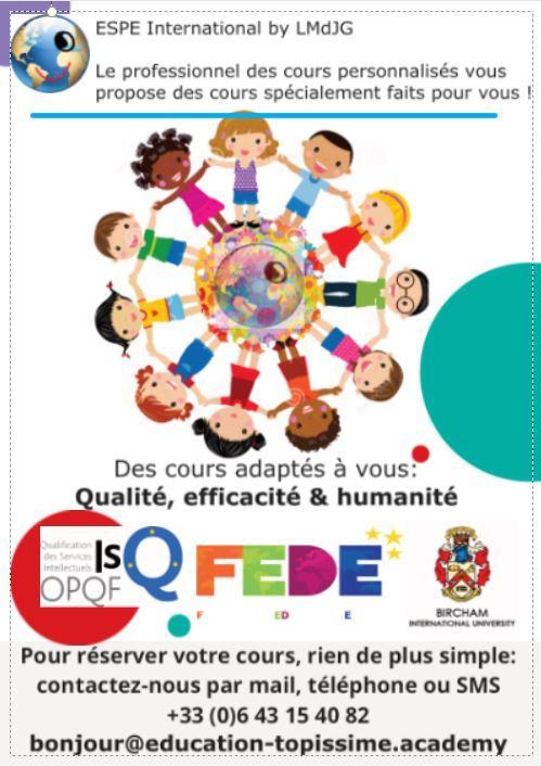 Brochure choisissez votre cours personnalise avec votre professeur topissime espe international by lmdjg verso